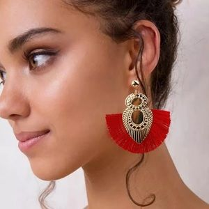 Now In Stock! Red Tassel Earrings!